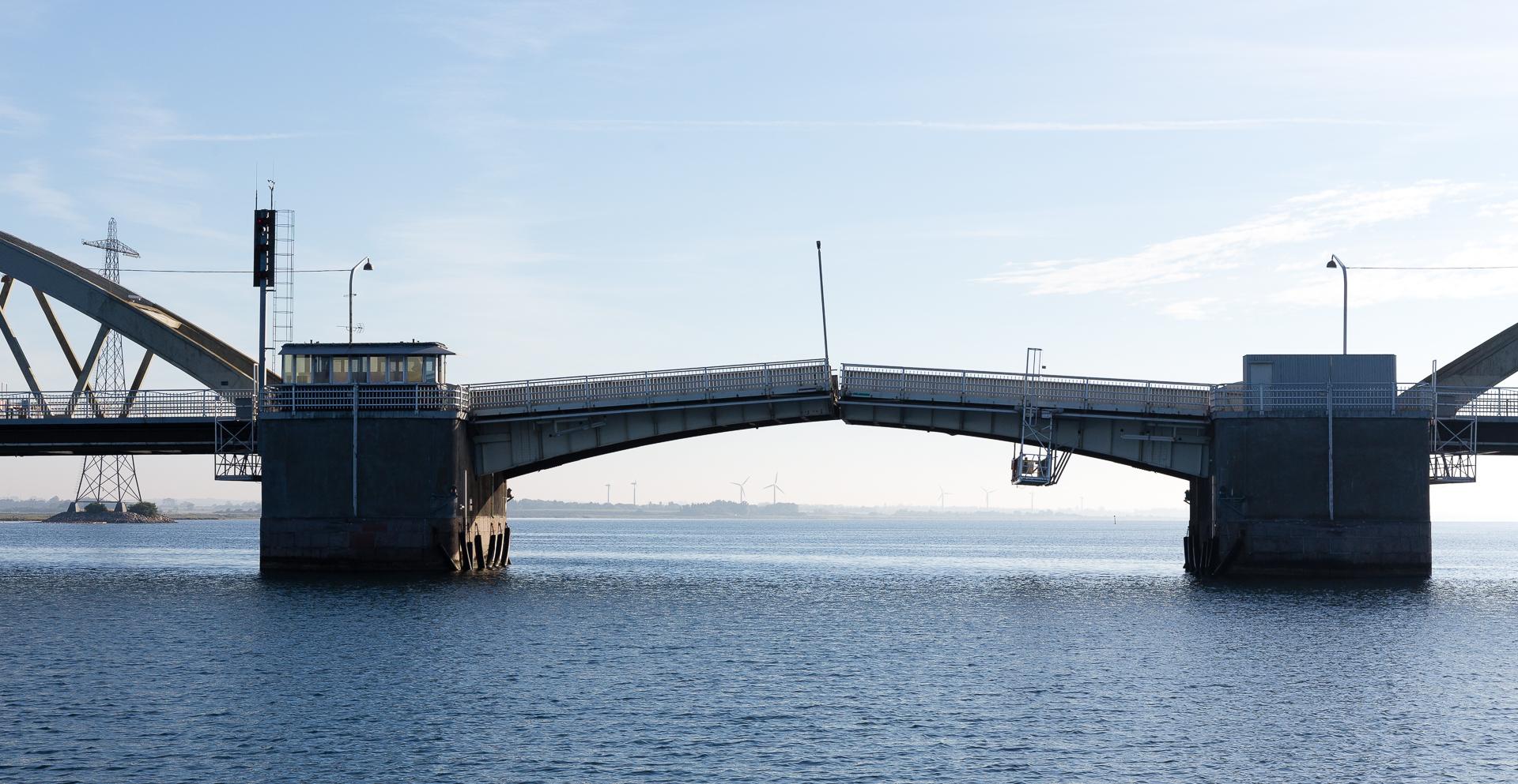 Aggersundbroen fra vest mod øst